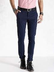 Roadster Navy Casual Trousers