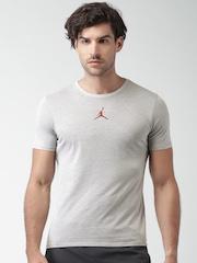 Nike Grey Melange JORDAN MOTION DRI-FIT Basketball T-Shirt