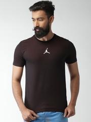 Nike Burgundy JORDAN MOTION DRI-FIT Printed Basketball T-Shirt