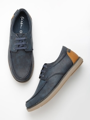 Mast & Harbour Men Blue Textured Printed Casual Shoes