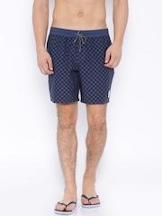 Vans Navy & Black Checked Swim Shorts