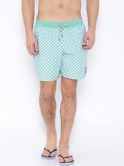 Vans Green & White Checked Swim Shorts