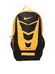 Nike Men Orange & Black Max Air Vapor Printed Backpack