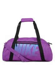Nike Women Purple Printed Gym Club Duffel Bag