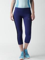 Nike Women Blue AS DF Essential Crop Running Tights