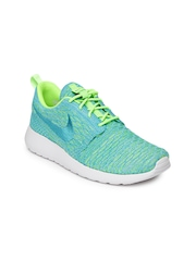 Nike Women Blue & Green Roshe One Flyknit NSW Casual Shoes