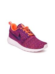 Nike Women Purple & Pink Roshe One Flyknit NSW Running Shoes