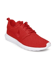 Nike Men Red Roshe Flyknit NSW Casual Shoes