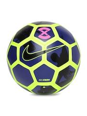Nike Navy & Neon Green Printed Strike Football