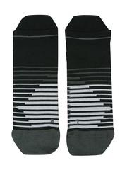 Nike Unisex Black Striped Anti-Blister Ankle-Length Running Socks