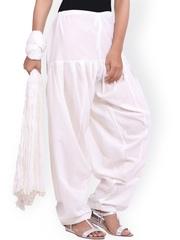 Jaipur Kurti Off-White Patiala & Dupatta