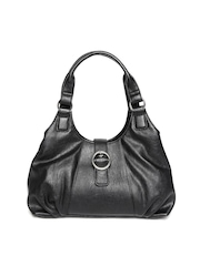 Marks & Spencer Black Textured Shoulder Bag