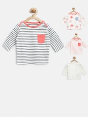 Marks & Spencer Baby Girls Pack of 4 Assorted Pure Cotton Tops