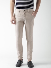Mast & Harbour Beige Linen Trousers
