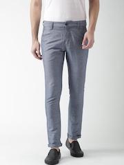 Mast & Harbour Blue Linen Trousers