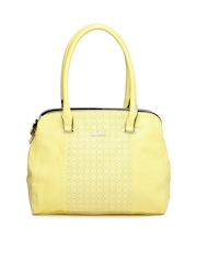 Lavie Yellow Printed Handbag