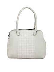Lavie Grey Printed Handbag
