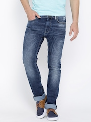 Pepe Jeans Navy Washed Vapour Fit Jeans