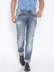 Pepe Jeans Blue Washed Vapour Slim Fit Jeans