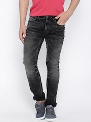 Pepe Jeans Black Washed Vapour Fit Jeans