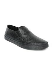 Mast & Harbour Men Black Slip-Ons