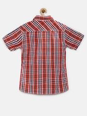 UFO Boys Red Checked Shirt