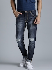 Kook N Keech Marvel Navy Washed Tapered Fit Jeans