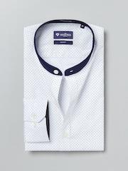 INVICTUS White Printed Slim Fit Formal Shirt
