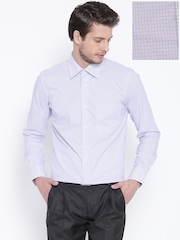 Raymond Off-White Checked Contemporary Fit Formal Shirt