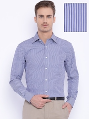 Raymond Blue Striped Contemporary Fit Formal Shirt