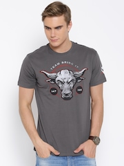 WWE Grey Printed T-shirt