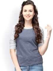 Campus Sutra Grey T-shirt
