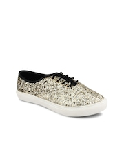 20Dresses Women Gold-Toned Shimmery Casual Shoes