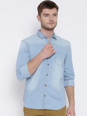 Highlander Blue Washed Slim Denim Shirt