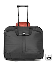 DELSEY Unisex Black Bellecour Trolley Laptop Bag