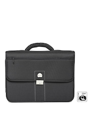 DELSEY Unisex Black Villette Laptop Bag