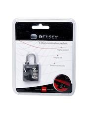 DELSEY Black 3-Digit Combination Padlock