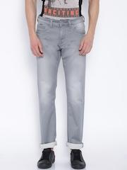 Killer Grey Low-Rise Slim Jeans