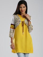 IMARA by Shraddha Kapoor Yellow Kurti
