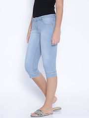 Kraus Jeans Blue Denim Capris