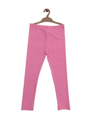 mothercare Girls Pink Ankle-Length Leggings
