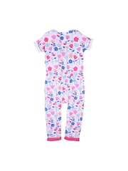 mothercare Girls White Floral Print Romper