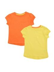 mothercare Girls Pack of 2 Polka Dot Print T-shirts