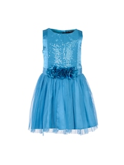 Toy Balloon kids Girls Turquoise Blue Fit & Flare Dress