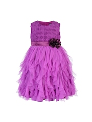 Toy Balloon kids Girls Purple Fit & Flare Dress