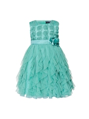 Toy Balloon kids Girls Sea Green Fit & Flare Dress