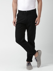 Mast & Harbour Black Slim Fit Trousers