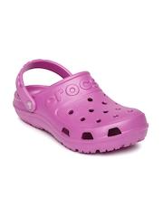 Crocs Kids Lavender Hilo Cut-Work Clogs