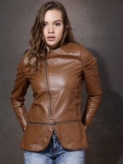 Roadster Brown Jacket with Detachable Hem