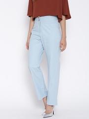 Hubberholme Light Blue High-Rise Trousers